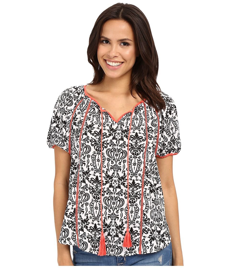 Rock and Roll Cowgirl - Short Sleeve Blouse B4-6386 (Black) Women's Blouse
