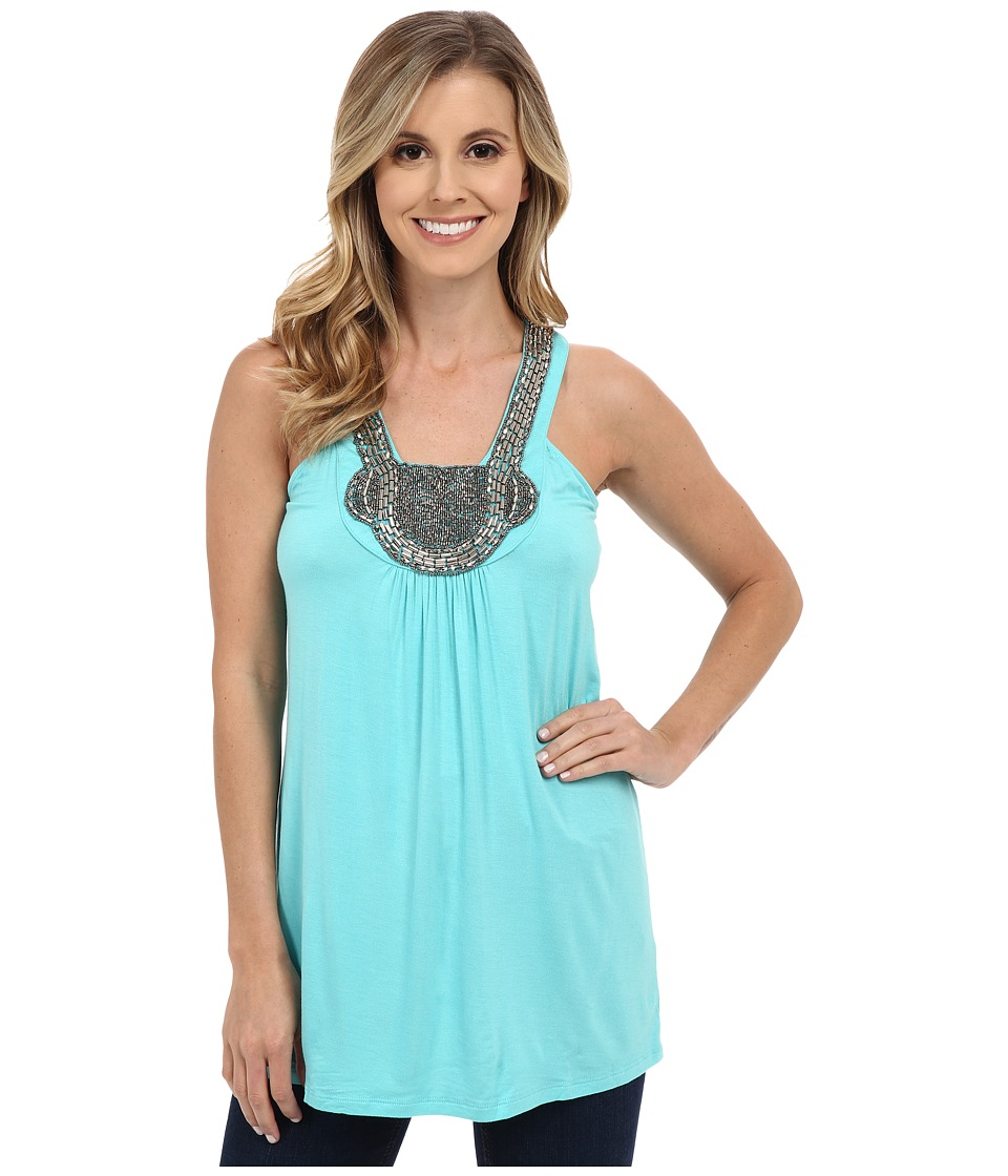 Rock and Roll Cowgirl - Tank Top 49-6024 (Turquoise) Women's Sleeveless