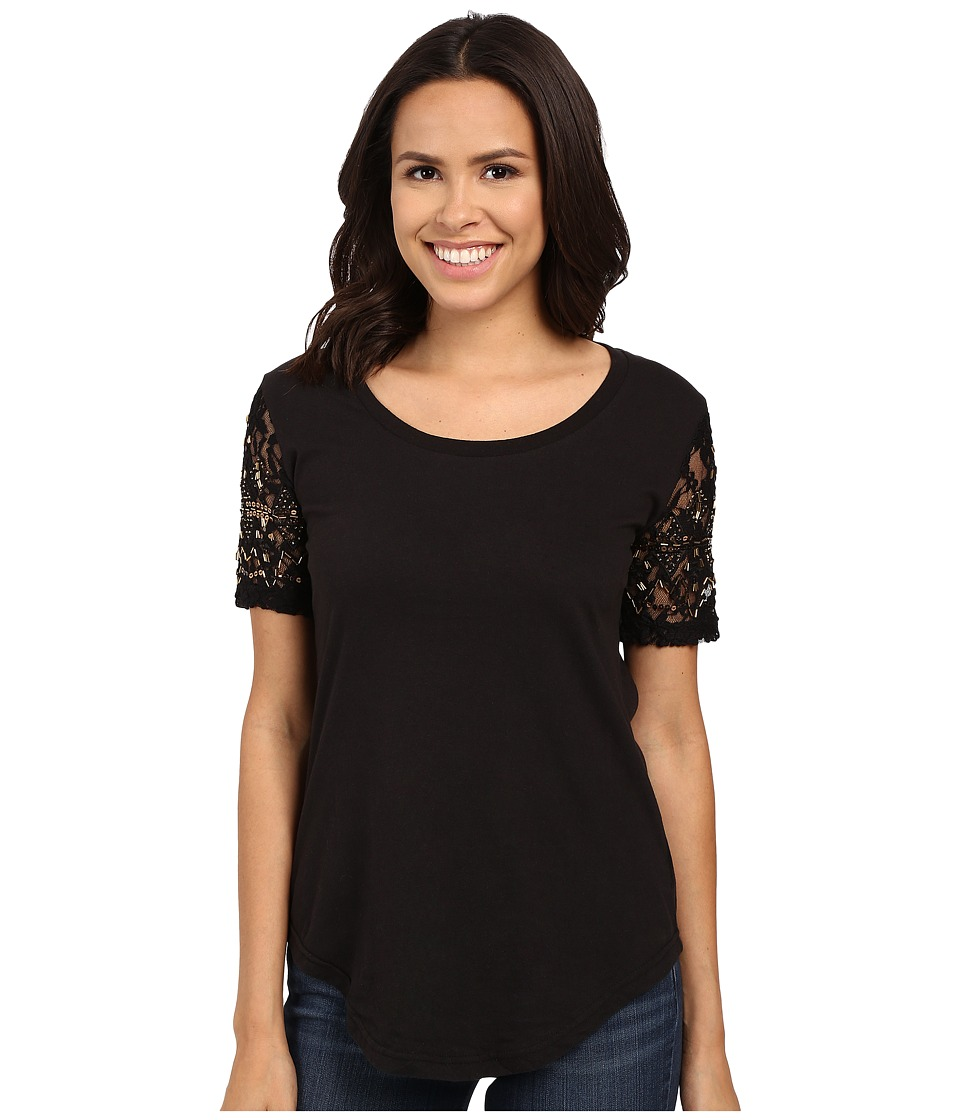 Rock and Roll Cowgirl - Short Sleeve Knit 49T6242 (Black) Women's Short Sleeve Knit