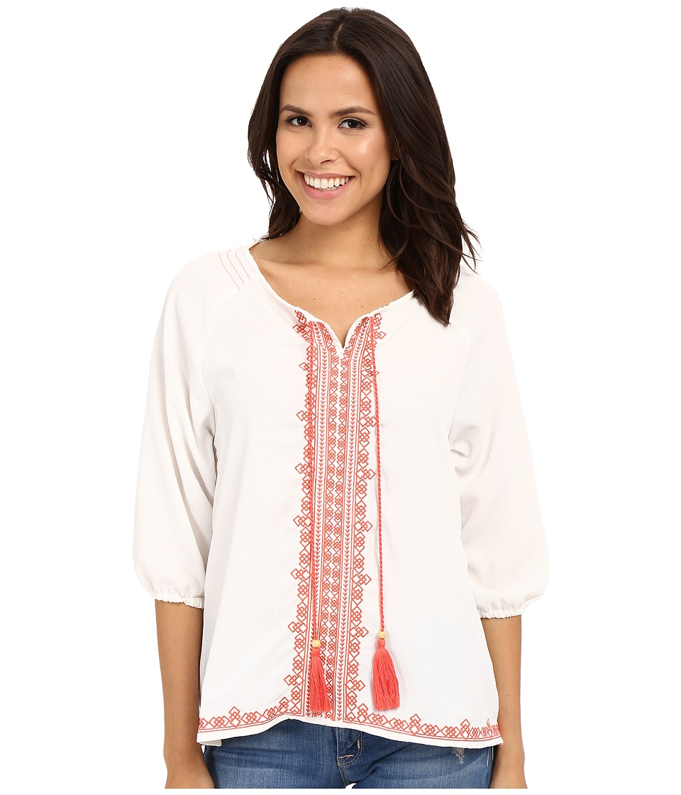 Rock and Roll Cowgirl - 3/4 Sleeve Tunic B4-6387 (Natural) Women's Blouse
