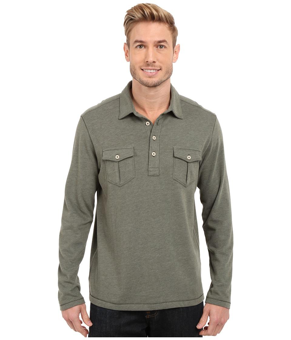 Tommy Bahama - Sedona Sands Polo (Beetle Green) Men's Long Sleeve Pullover