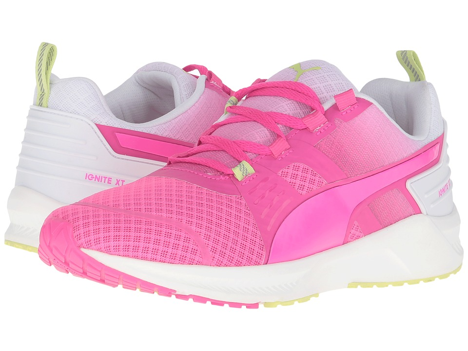 PUMA - Ignite XT V2 (Pink Glow/Puma White/Sharp Green) Women's Running Shoes