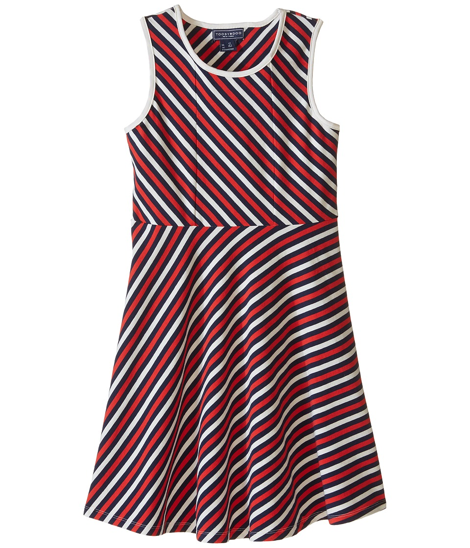 Toobydoo - Tank Skater Dress (Toddler/Little Kids/Big Kids) (Red/Navy/White) Girl's Dress