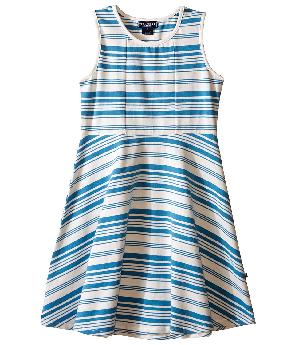 Toobydoo - Tank Skater Dress (Toddler/Little Kids/Big Kids) (Blue/White) Girl's Dress
