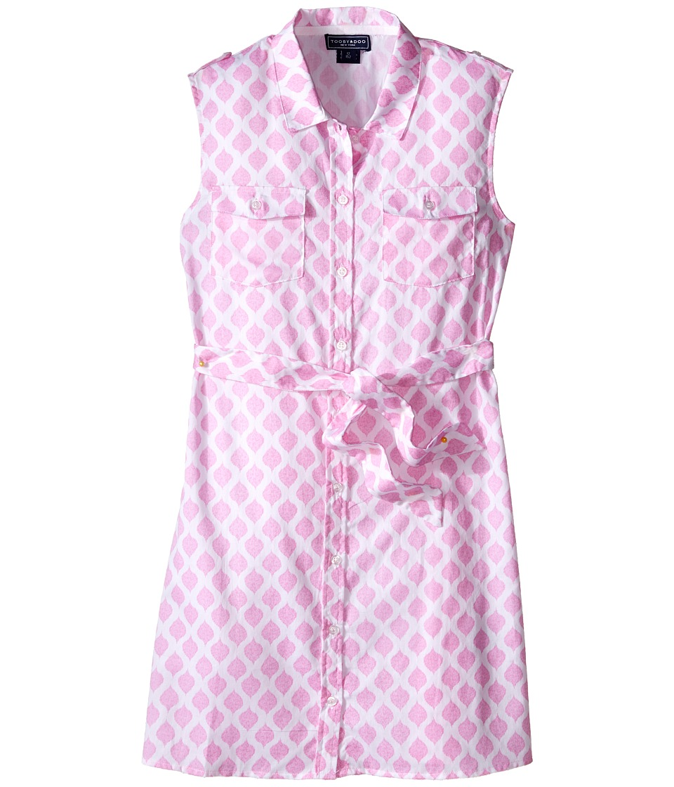 Toobydoo - Tank Shirtdress (Toddler/Little Kids/Big Kids) (Pink/White) Girl's Dress