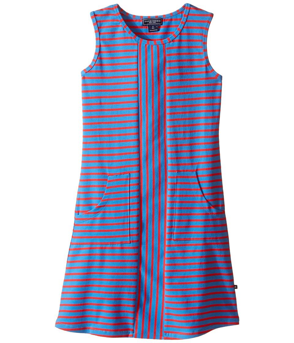 Toobydoo - Tank Dress (Toddler/Little Kids/Big Kids) (Royal Blue/Red) Girl's Dress