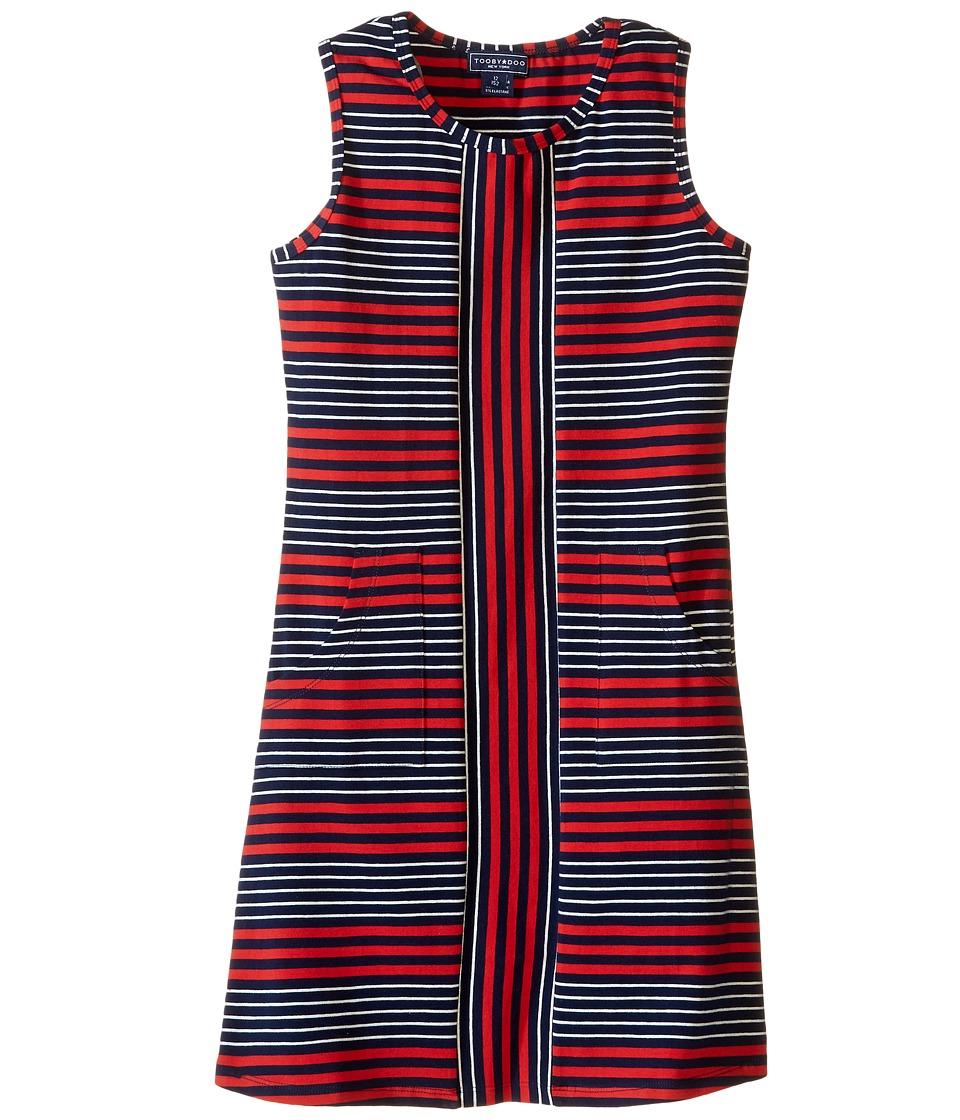 Toobydoo - Tank Dress (Toddler/Little Kids/Big Kids) (Red/Navy/White) Girl's Dress