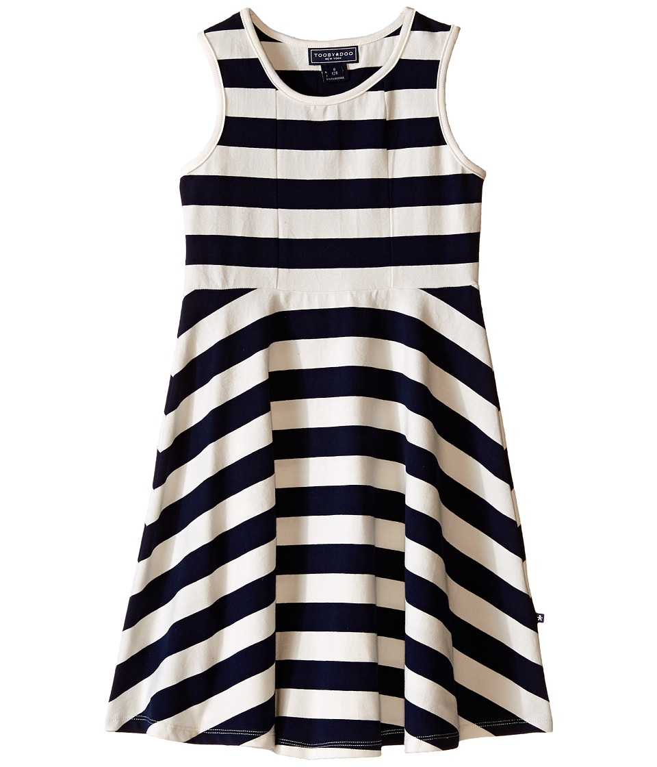 Toobydoo - Tank Skater Dress (Toddler/Little Kids/Big Kids) (Navy/White) Girl's Dress