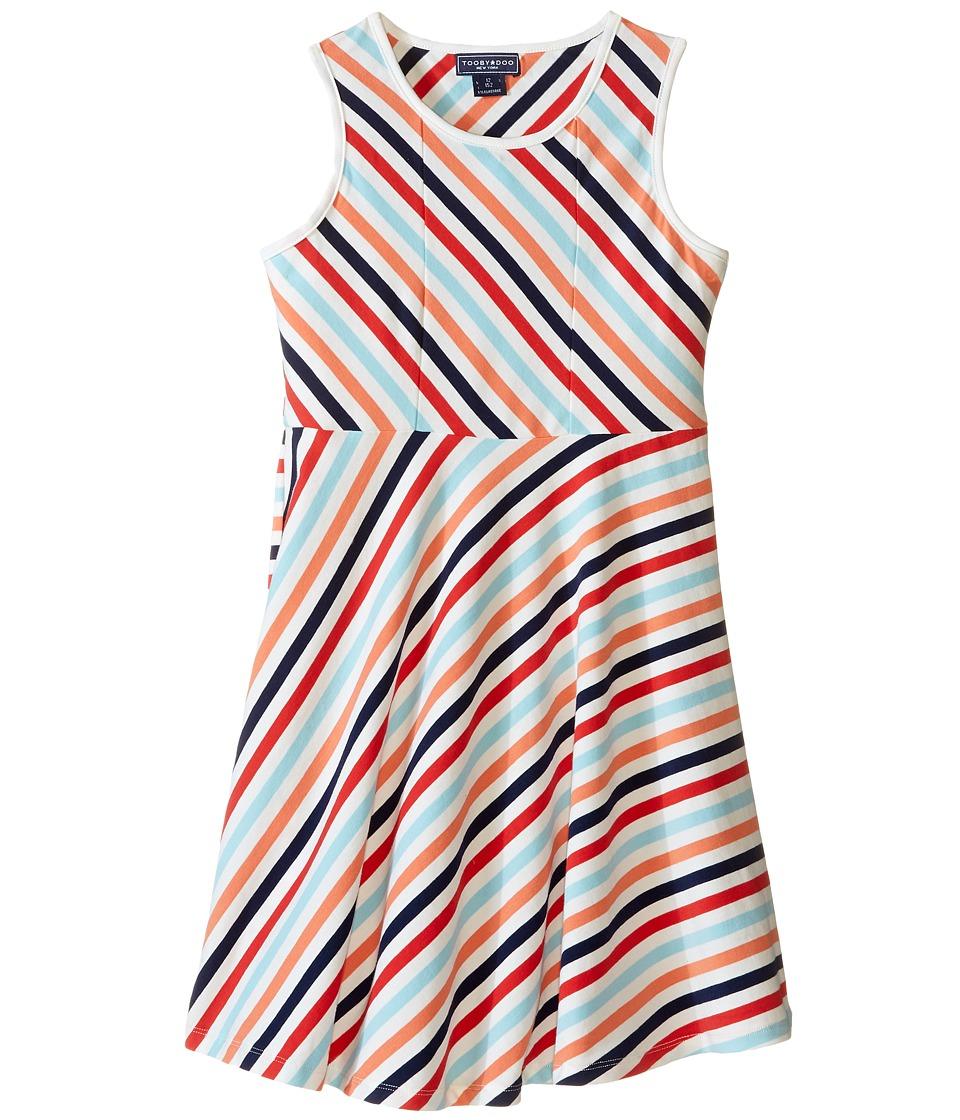 Toobydoo - Tank Skater Dress (Toddler/Little Kids/Big Kids) (Navy/Light Blue/White/Red/Orange) Girl's Dress
