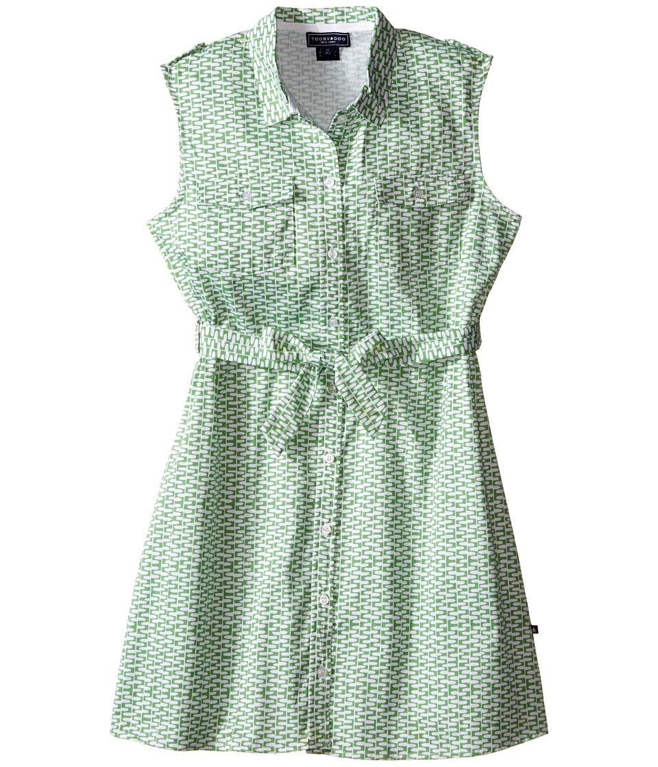 Toobydoo - Tank Shirtdress (Toddler/Little Kids/Big Kids) (Green/White) Girl's Dress