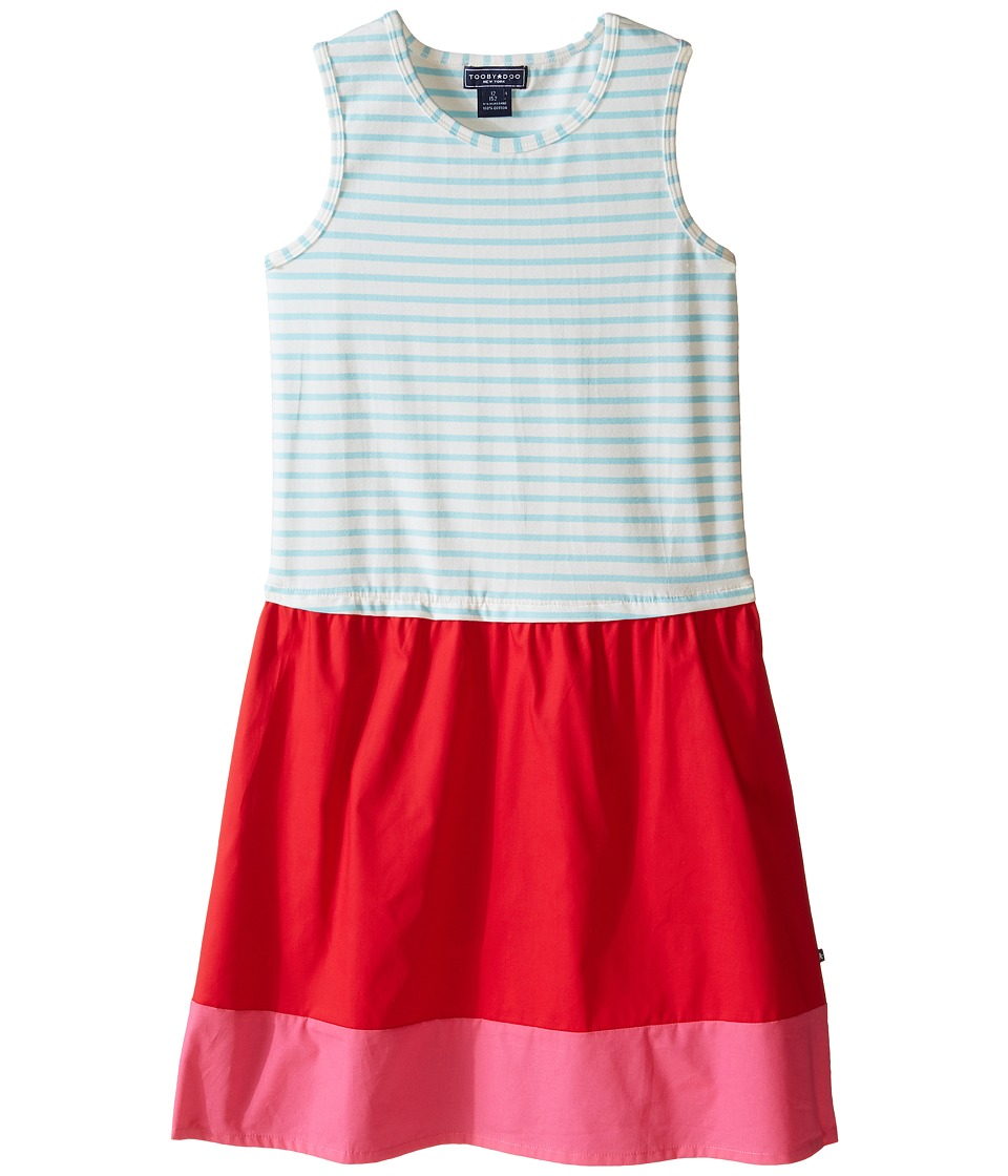 Toobydoo - Tank Dress (Toddler/Little Kids/Big Kids) (Light Blue/White/Red/Pink) Girl's Dress