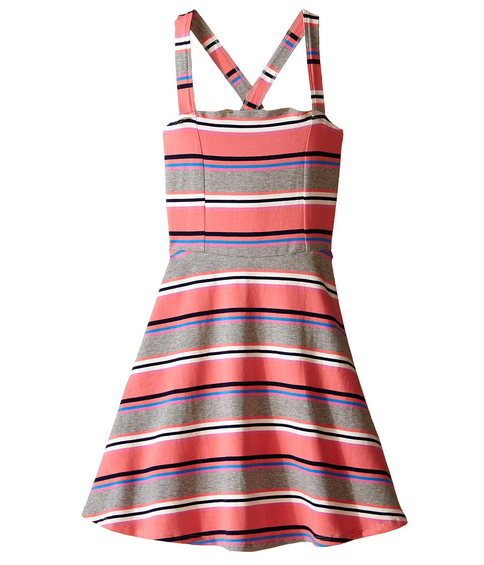 Toobydoo - Tank Skater Dress (Toddler/Little Kids/Big Kids) (Red/Navy/White/Blue/Pink/Gray) Girl's Dress