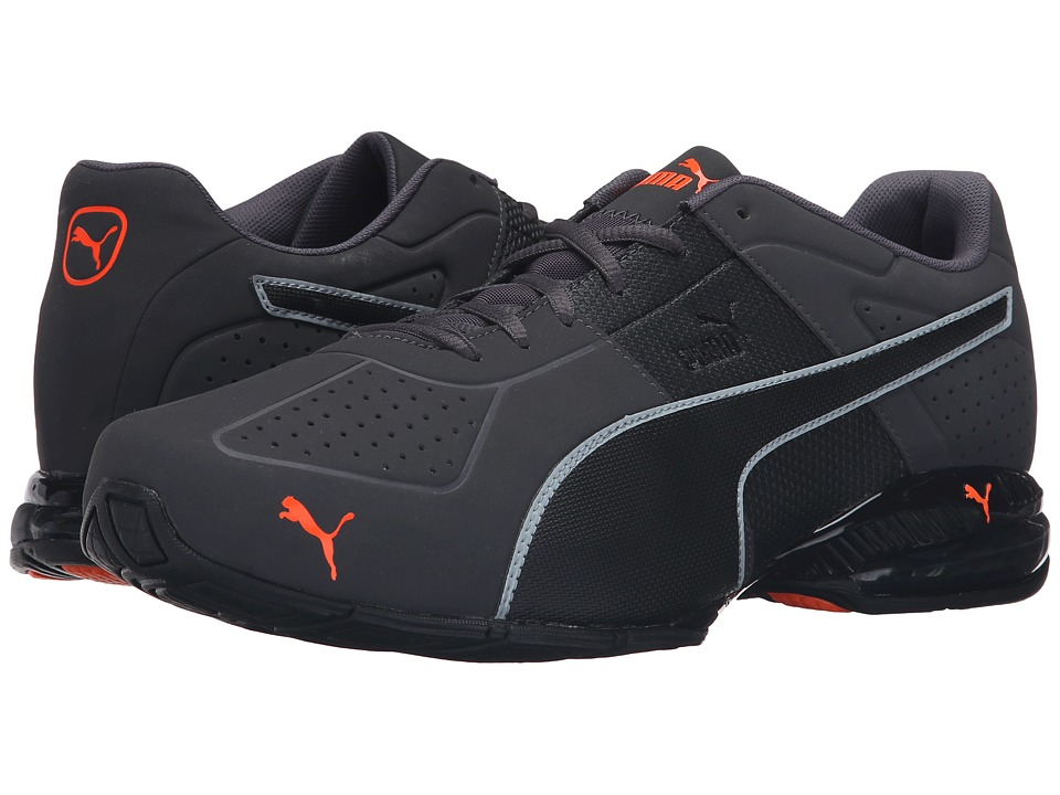 PUMA - Cell Surin 2 Matte (Asphalt/Black/Shocking Orange) Men's Running Shoes