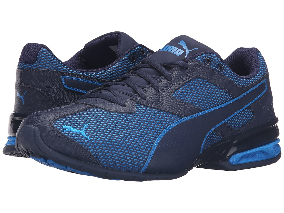 PUMA - Tazon 6 Mesh (Peacoat/Electric Blue Lemonade) Men's Running Shoes