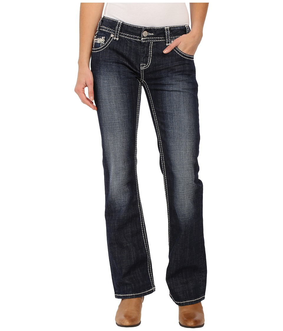 Rock and Roll Cowgirl - Low Rise Bootcut in Dark Vintage W0-6418 (Dark Vintage) Women's Jeans