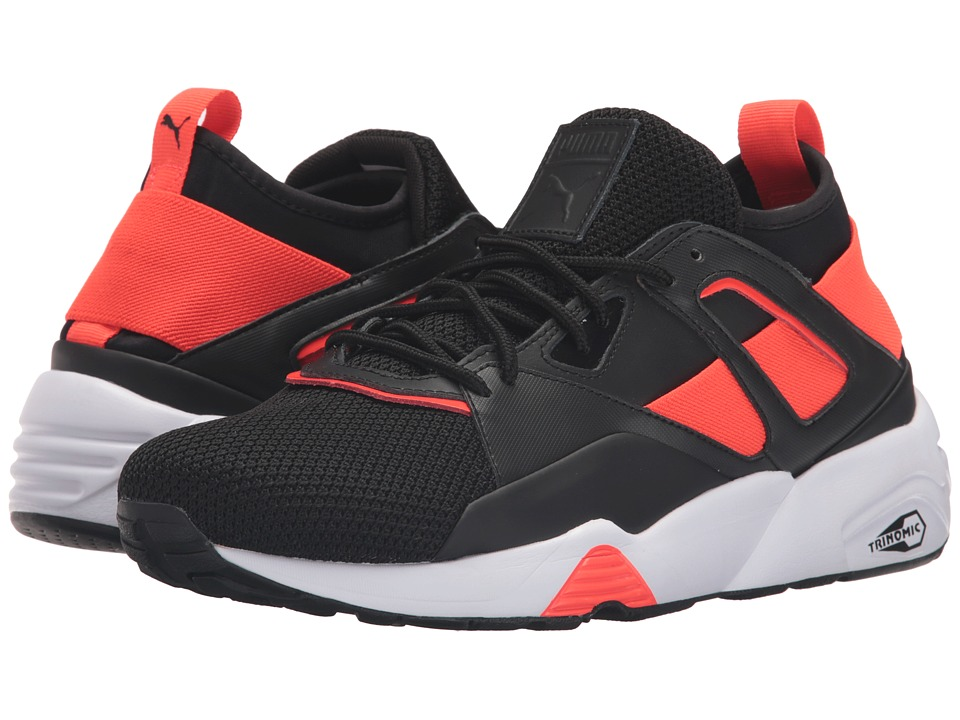 PUMA - Bog Sock Tech (Puma Black/Puma Black/Red Blast) Men's Running Shoes