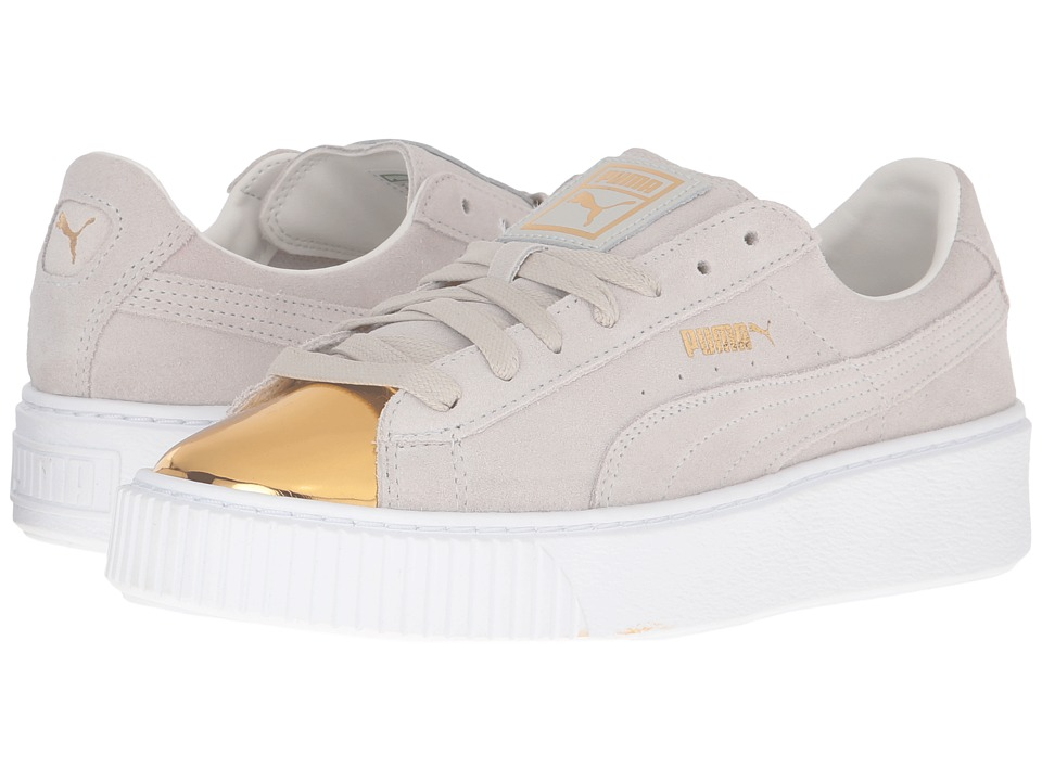 PUMA - Suede Platform Gold (Gold/Star White/Puma White) Women's Shoes