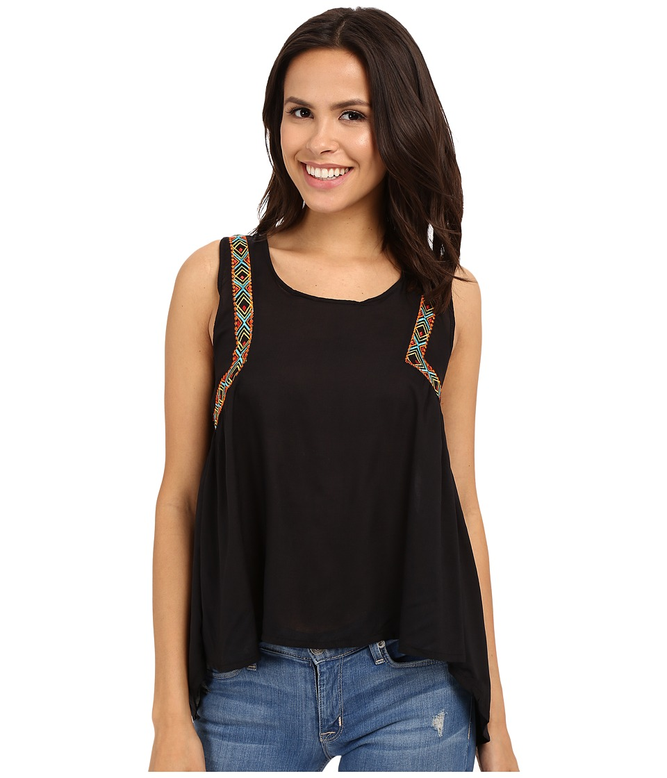 Rock and Roll Cowgirl - Sleeveless Tank Top B5-6398 (Black) Women's Sleeveless