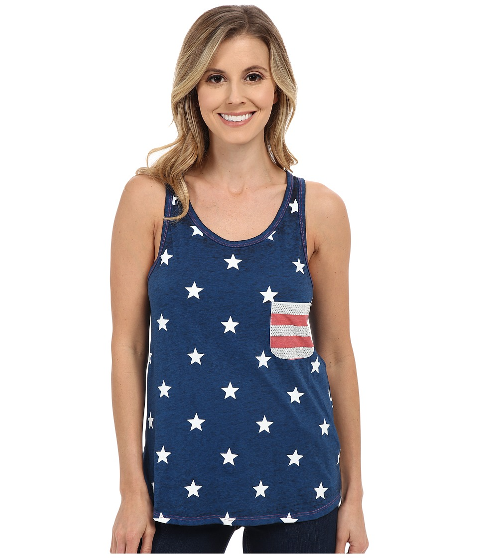 Rock and Roll Cowgirl - Knit Tank Top 49-6229 (Royal) Women's Sleeveless
