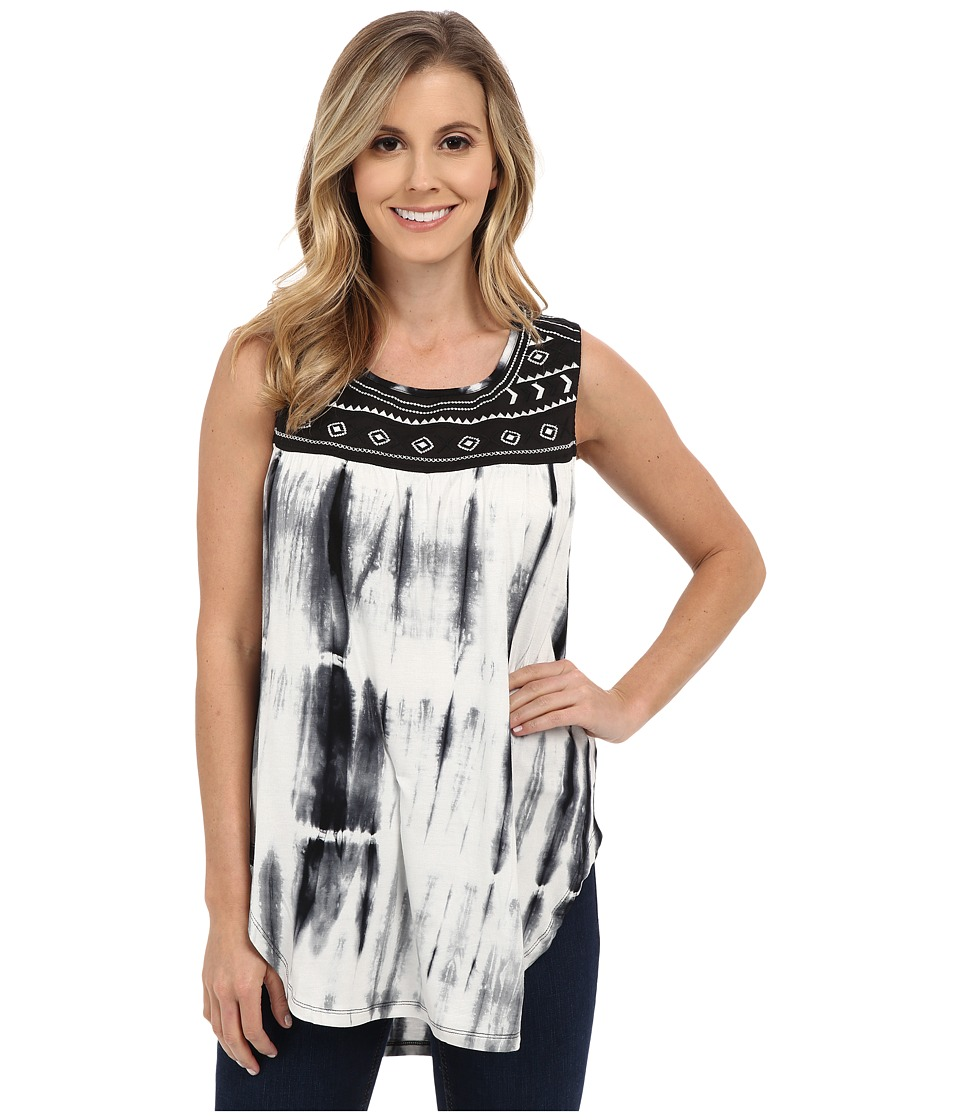 Rock and Roll Cowgirl - Knit Tank Top 49-6028 (Off-White) Women's Sleeveless