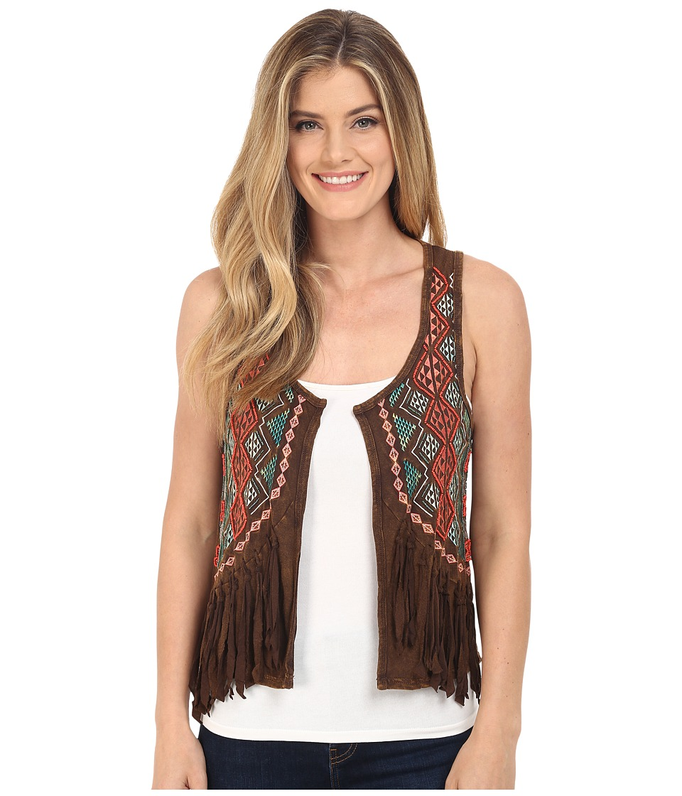Rock and Roll Cowgirl - Vest 49V6060 (Chocolate) Women's Vest