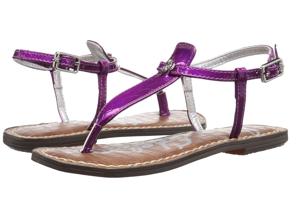 Sam Edelman Kids - Gigi Charm (Little Kid/Big Kid) (Purple Holographic Croco) Girl's Shoes