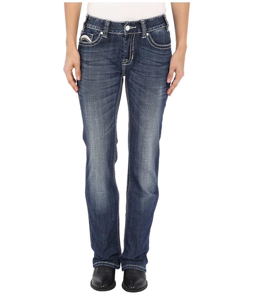 Rock and Roll Cowgirl - Mid-Rise Bootcut in Dark Vintage W1-6429 (Dark Vintage) Women's Jeans