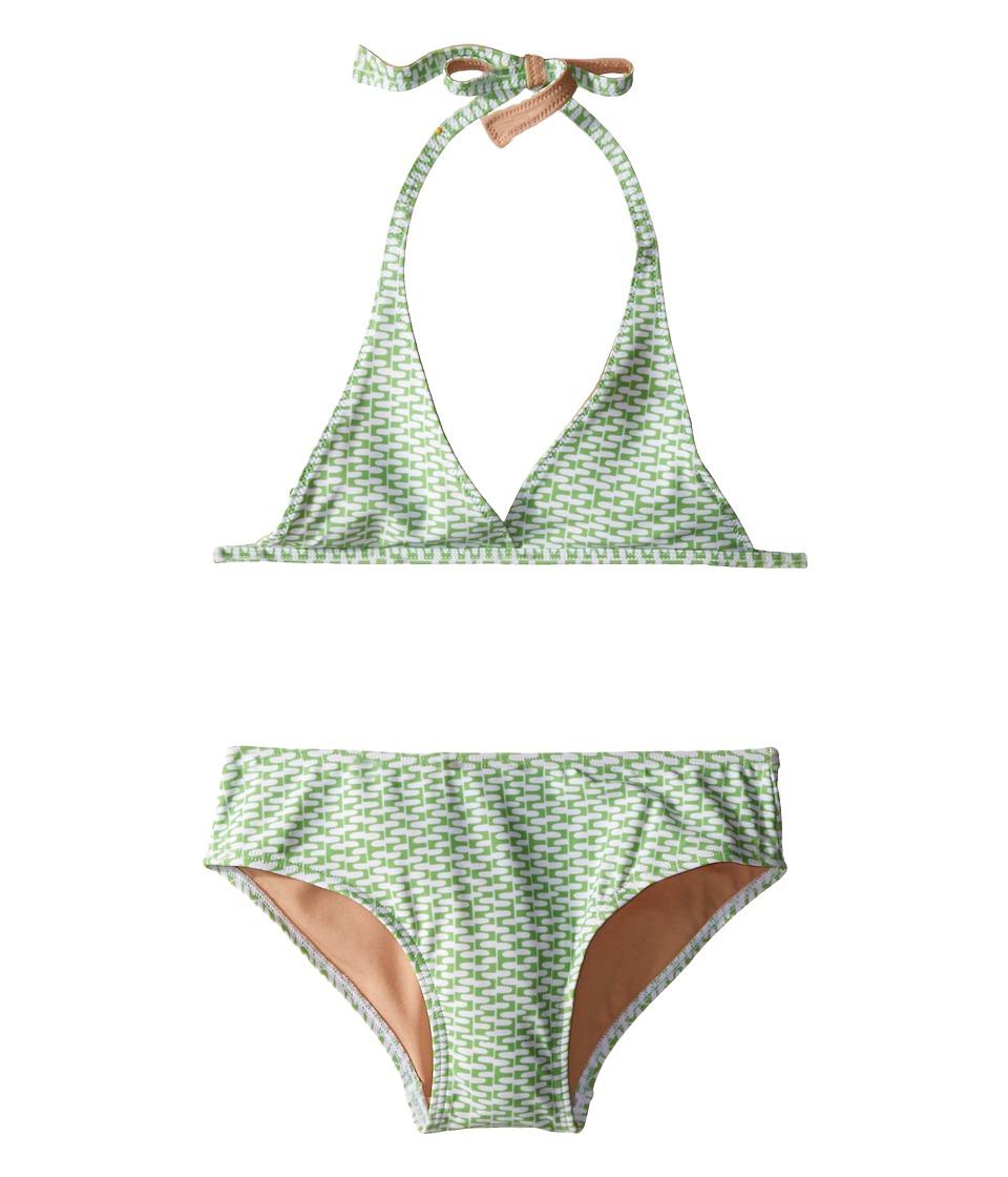 Toobydoo Green/White String Bikini (Infant/Toddler/Little Kids/Big Kids) (Green/White) Girl