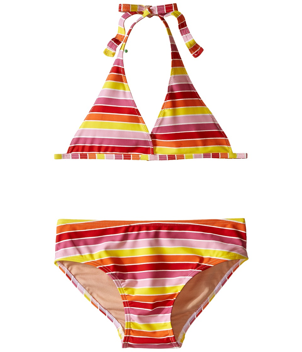 Toobydoo - Multi Stripe String Bikini (Infant/Toddler/Little Kids/Big Kids) (Yellow/Orange/Red/Pink) Girl's Swimwear Sets