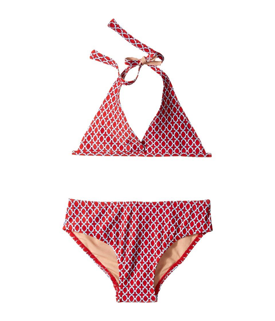 Toobydoo - Red/Blue String Bikini (Infant/Toddler/Little Kids/Big Kids) (Blue/Red) Girl's Swimwear