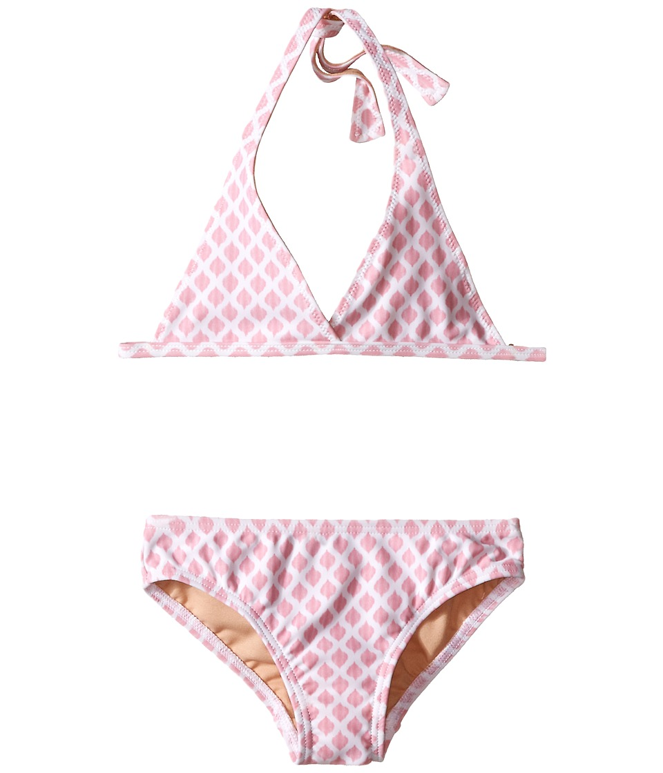 Toobydoo - Light Pink/White String Bikini (Infant/Toddler/Little Kids/Big Kids) (Pink/White) Girl's Swimwear Sets