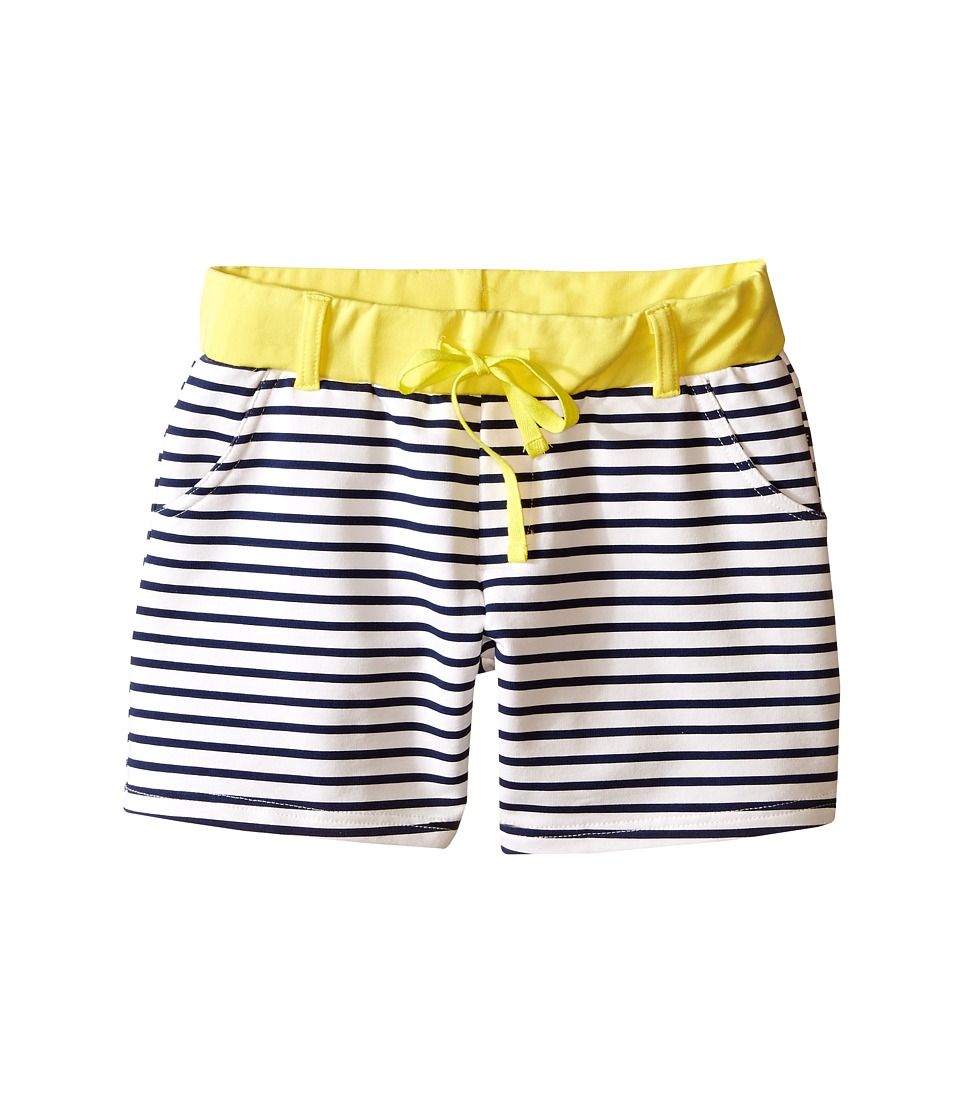 Toobydoo - Miss Shortie Stripe (Toddler/Little Kids/Big Kids) (Yellow/White/Navy) Girl's Shorts