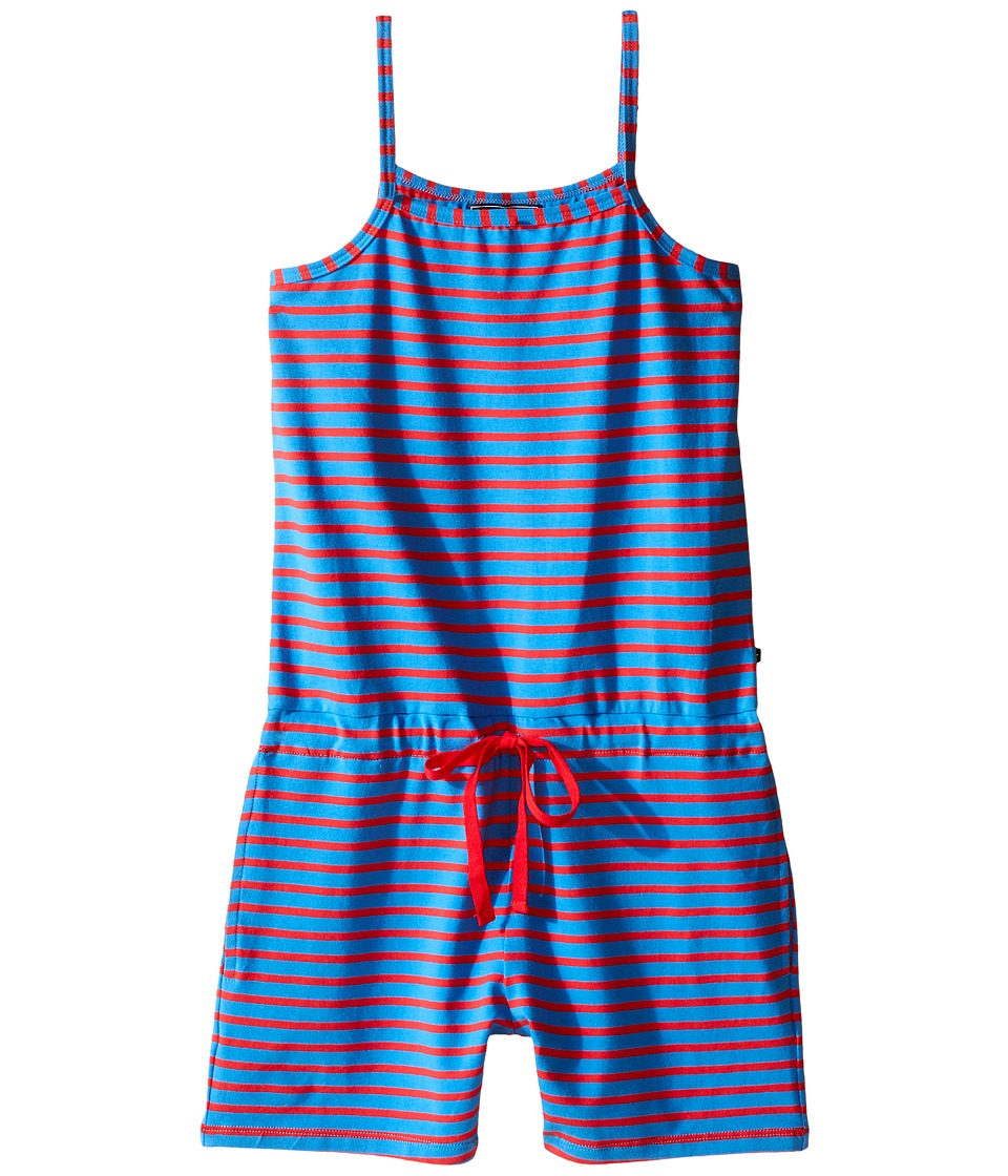 Toobydoo - Tank Beach Romper (Toddler/Little Kids/Big Kids) (Royal Blue/Red) Girl's Jumpsuit & Rompers One Piece