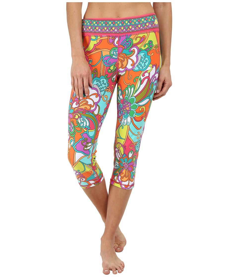 Trina Turk - Jungle Flower Mid-Length Leggings (Multi) Women's Workout
