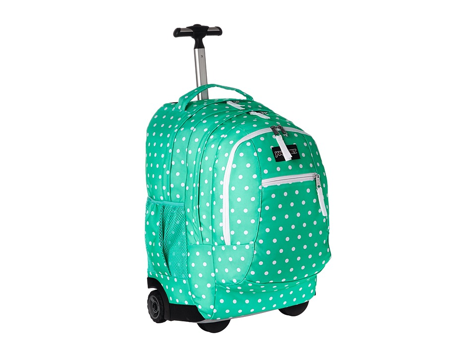 JanSport - Driver 8 Wheeled (Seafoam Green/White Dots) Backpack Bags