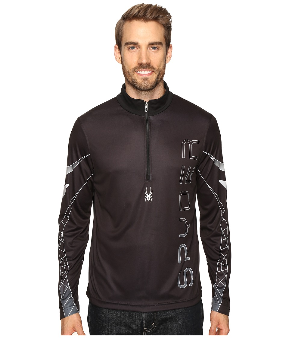 Spyder - Powertrack Dry W.E.B. T-Neck (Black/Cirrus/Polar) Men's Long Sleeve Pullover