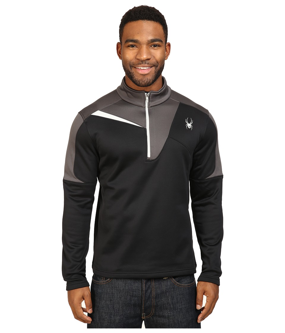 Spyder - Charger Therma Stretch T-Neck Top (Black/Polar/Cirrus) Men's Long Sleeve Pullover