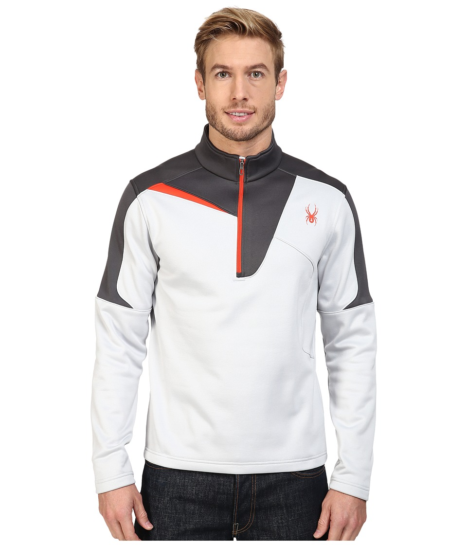 Spyder - Charger Therma Stretch T-Neck Top (Cirrus/Polar/Rage) Men's Long Sleeve Pullover
