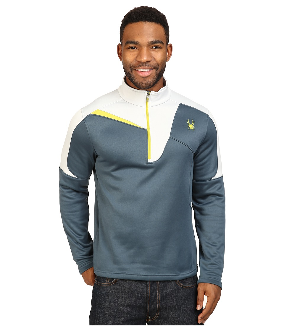 Spyder - Charger Therma Stretch T-Neck Top (Union Blue/Cirrus/Sulfur) Men's Long Sleeve Pullover
