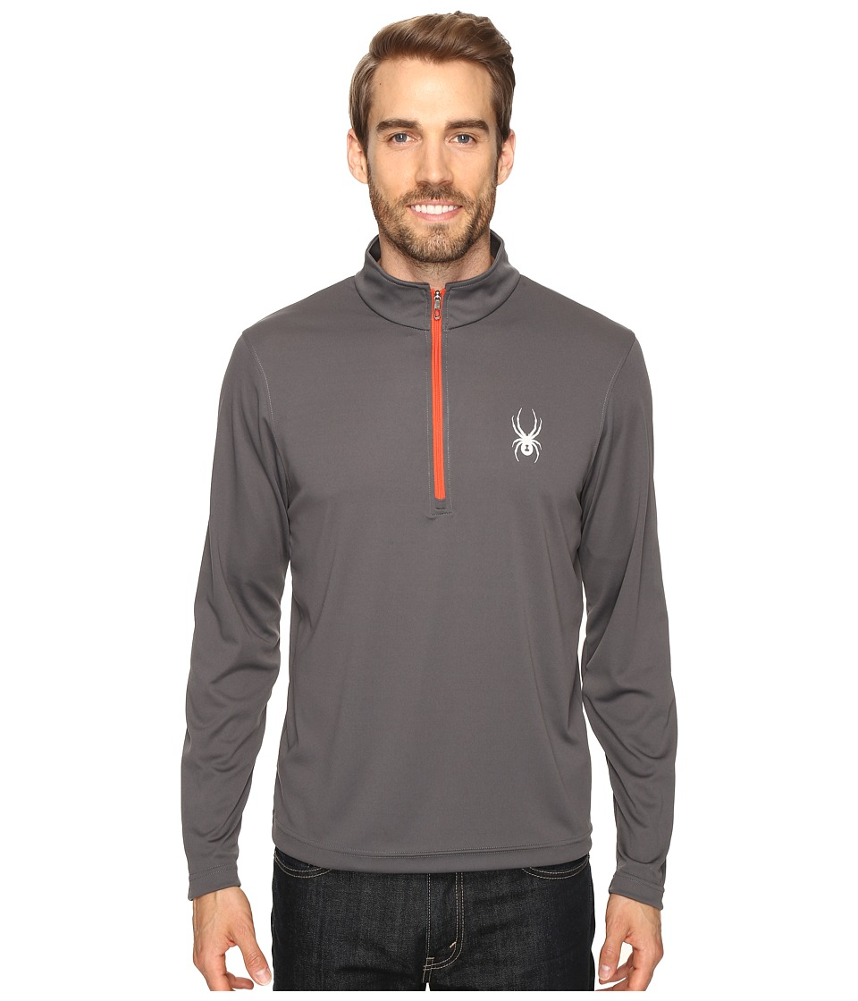 Spyder - Silver Drip Dry W.E.B. T-Neck Top (Polar/Rage) Men's Long Sleeve Pullover