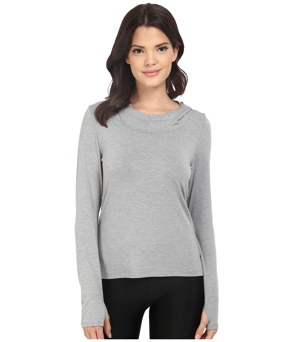 Trina Turk - Jersey Long Sleeve Hooded Top (Heather Grey) Women's Long Sleeve Pullover