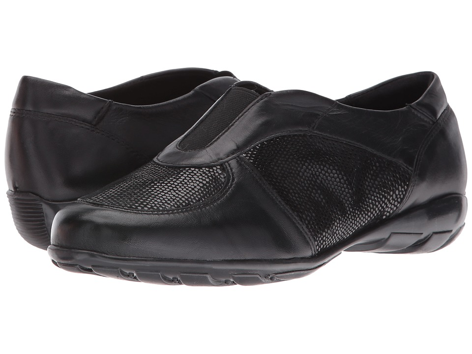 Vaneli - Aimee (Black E-Print/Black Nappa) Women's Slip on Shoes