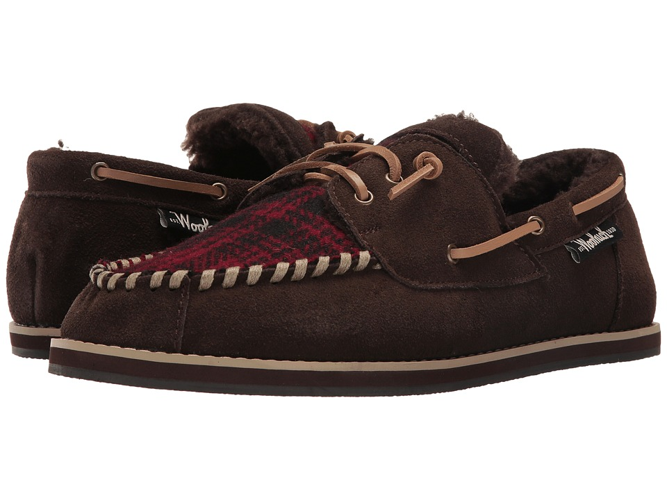 Woolrich - Austin Potter (Red Hunting Plaid Wool/Java) Men's Slippers