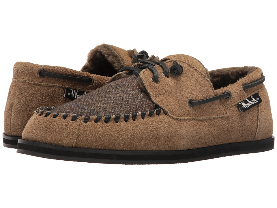 Woolrich - Austin Potter (Tweed Wool/Lead Gray Suede) Men's Slippers