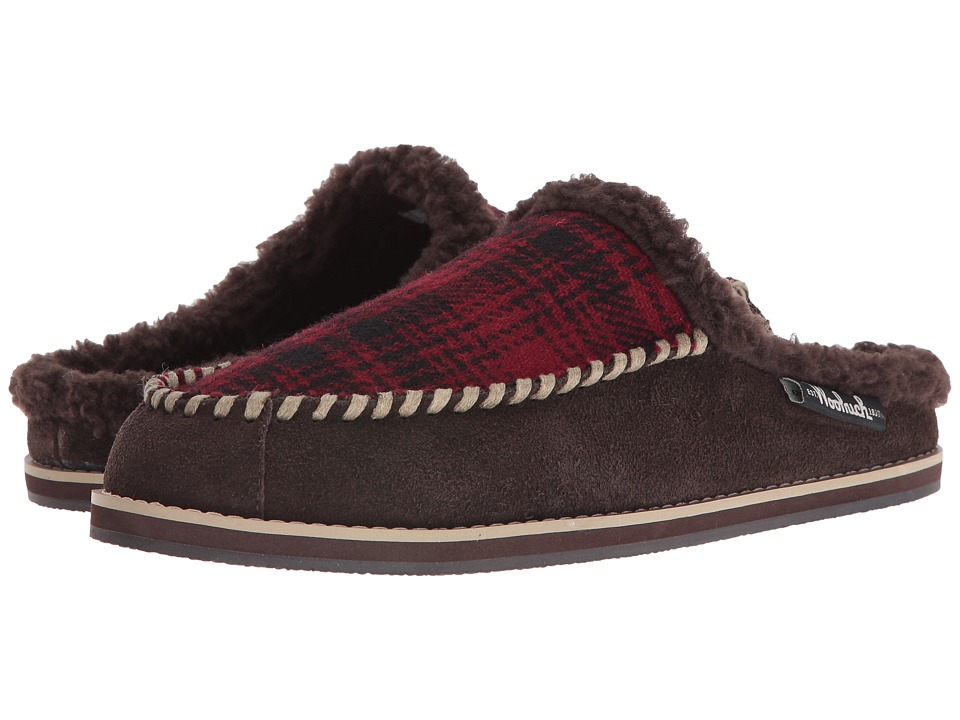 Woolrich - Austin Potter Slide (Red Hunting Plaid Wool/Java) Men's Slippers