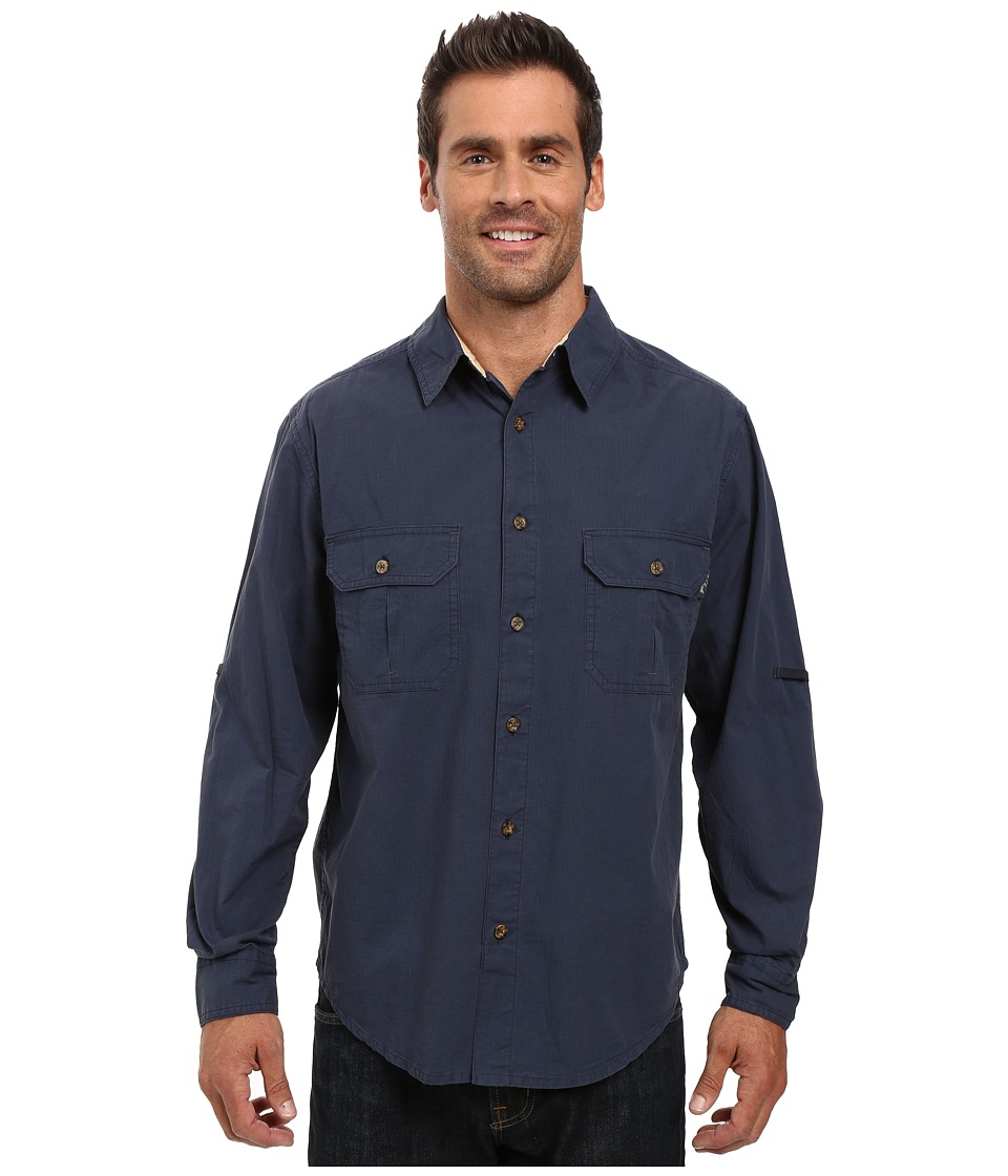 Woolrich - Midway Solid Long Sleeve Shirt Regular Fit (Deep Indigo) Men's Clothing