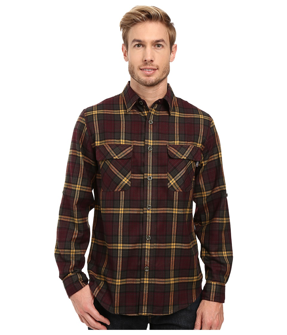 Woolrich - Hikers Trail Flannel Shirt Modern Fit (Dark Plum) Men's Clothing