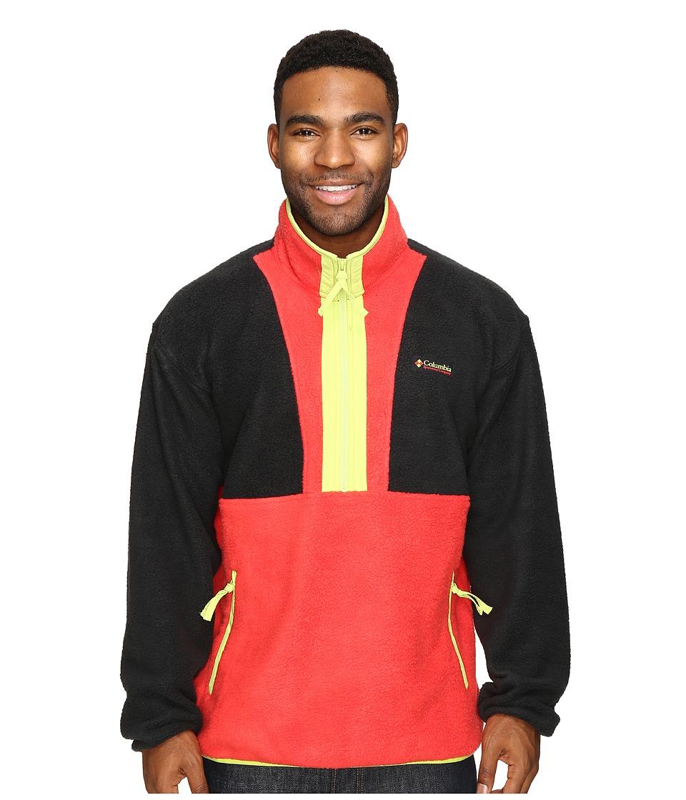 Columbia - CSC Originals Fleece (Black/Bright Red/Fission) Men's Fleece