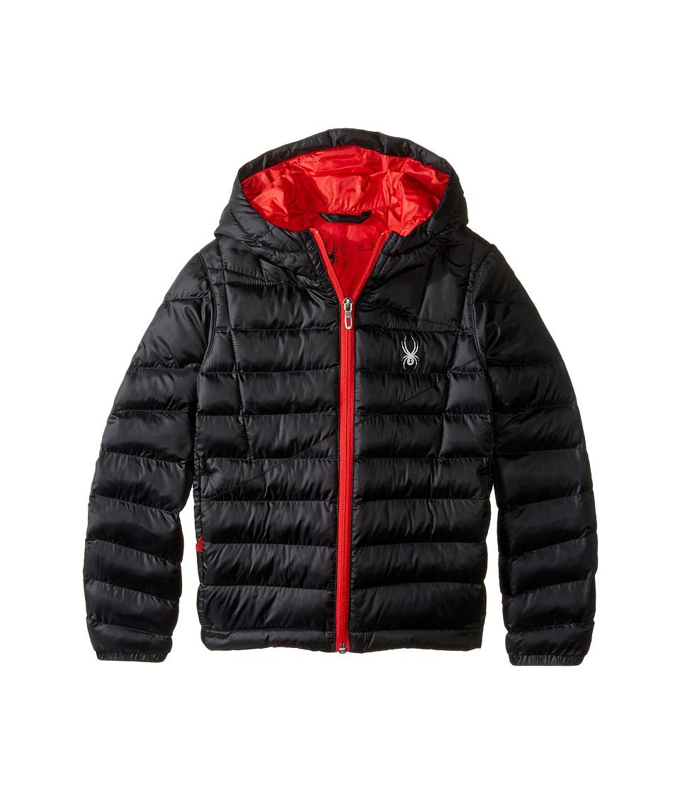 Spyder Kids - Dolomite Synthetic Down Jacket (Little Kids/Big Kids) (Black/Red) Boy's Coat