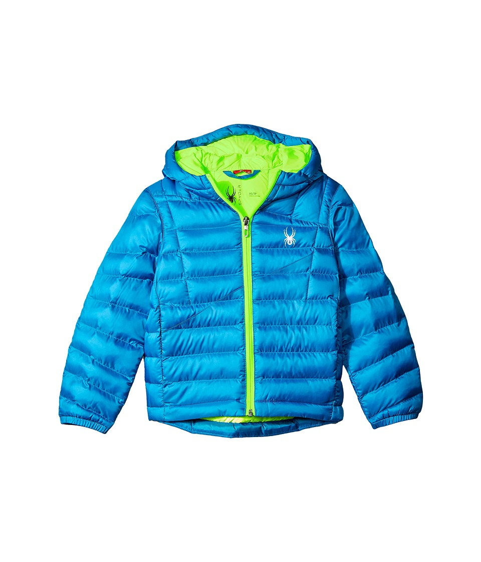 Spyder Kids - Dolomite Synthetic Down Jacket (Little Kids/Big Kids) (Concept Blue/Bryte Green) Boy's Coat